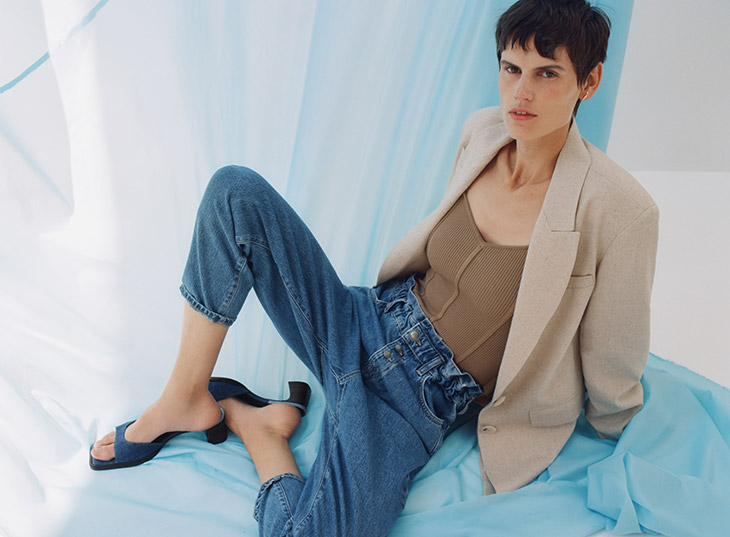Saskia de Brauw Models ZARA Fall 2020 Denim Collection