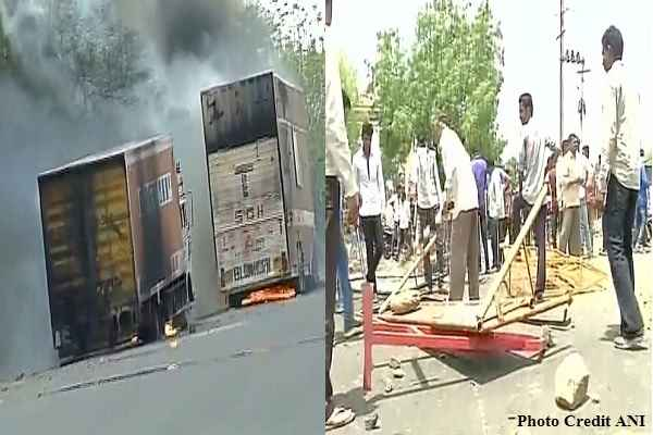mp-mandsaur-news-farmers-violent-protest-burnt-10-vehicle