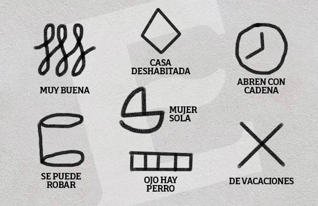 El crimen organizado marca con símbolos a las casas que robarán