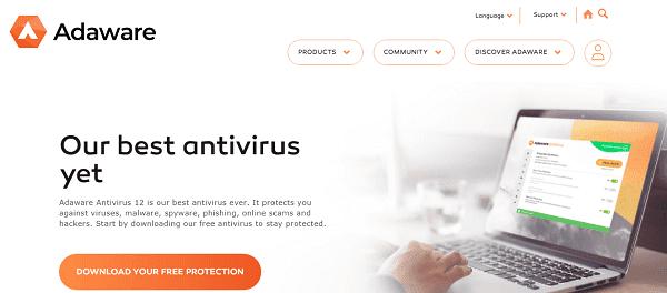 برنامج مكافحة الفيروسات Adaware