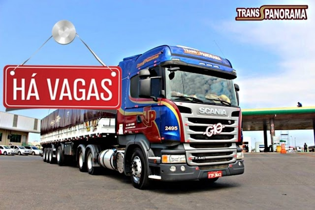 Trans Panorama abre vagas para Motorista carreteiro