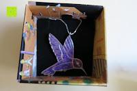 Box Inhalt: Kunstvolles Silber Halskette mit Kolibri Anhänger