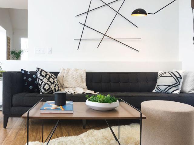 căn phòng khách tôn lên vẻ hiện đại