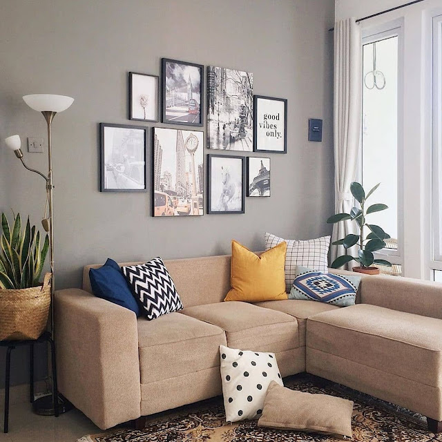 9 Warna Cat Ruang Tamu yang Sejuk bikin Ruangan Terlihat Luas