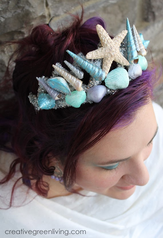 How to make a seashell mermaid crown - perfect for Halloween, wedding or cosplay