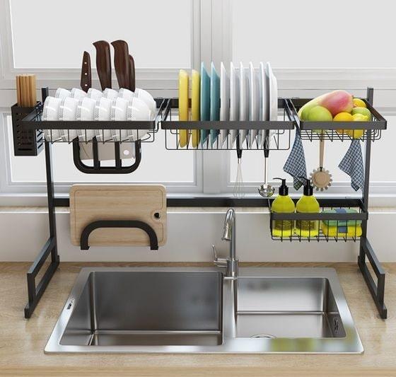 Top 15 Kitchen Sink Rack Design Ideas For Storage