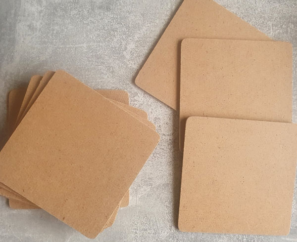 Use blank coasters to make unique coasters to make the home decor