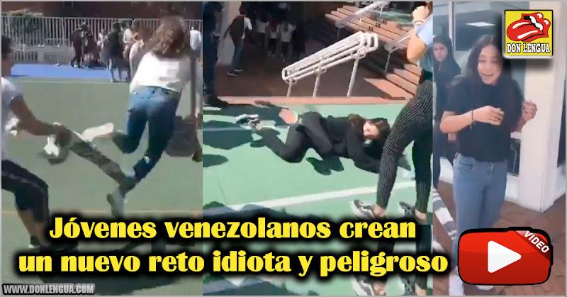 Jóvenes venezolanos crean un nuevo reto idiota y peligroso