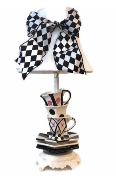 TEA CUP TABLE LAMP TEA POT TABLE LAMP ALICE IN WONDERLAND DECOR