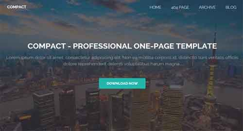 Compact - One Page Responsive Blogger Template
