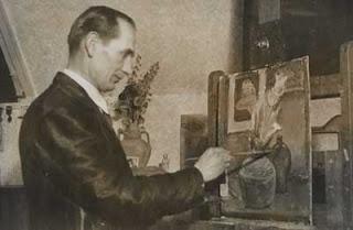 A.Ahtaja ja kukkamaalaus
