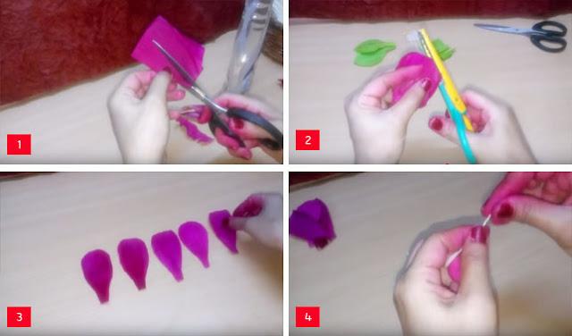 Membuat Bunga Sepatu dari Kulit Jagung