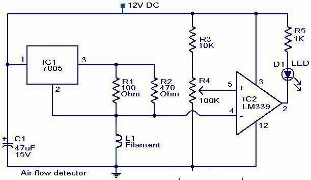 Diagram Of Radon Element Air Flow Detector Circuit Elepros