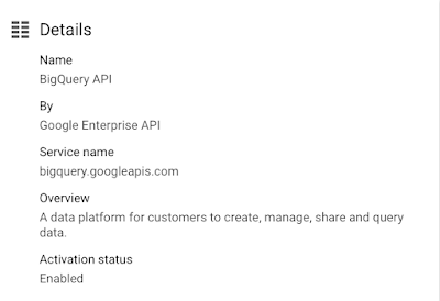 BQ API enabled