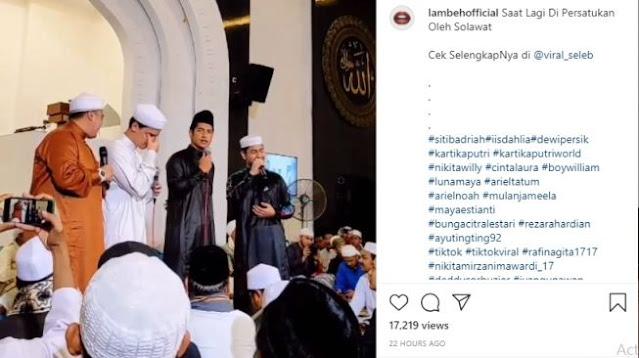 Salawatan Bersama Zikri Daulay, Alvin Faiz Dicela Warganet: Gak Nangis, Tapi Gak Hafal