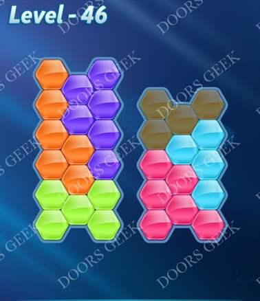 Block! Hexa Puzzle [6 Mania] Level 46 Solution, Cheats, Walkthrough for android, iphone, ipad, ipod