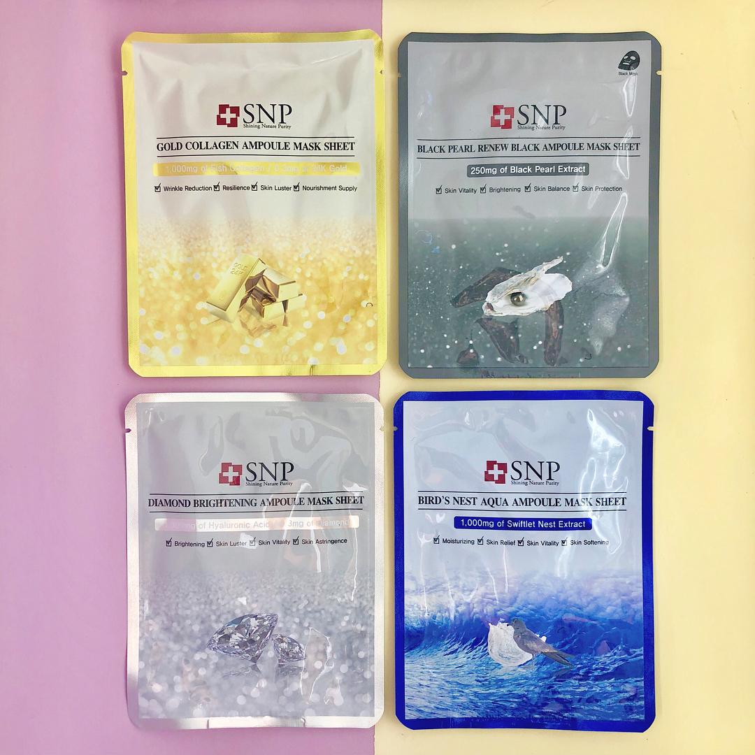 Diversas variedades de máscaras de belleza coreana