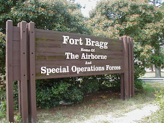 Sign at Fort Bragg, North Carolina