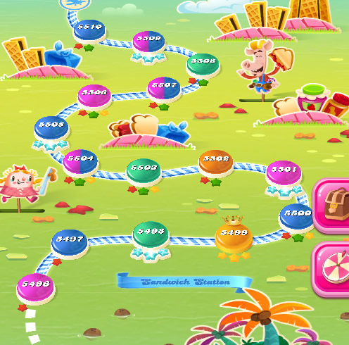 Candy Crush Saga level 5496-5510