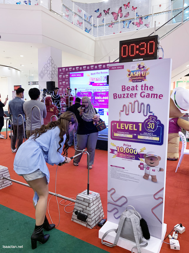 One of the many games at the AEON Mall Shah Alam event