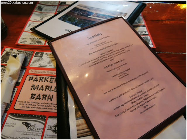 Parker`s Maple Barn Menu