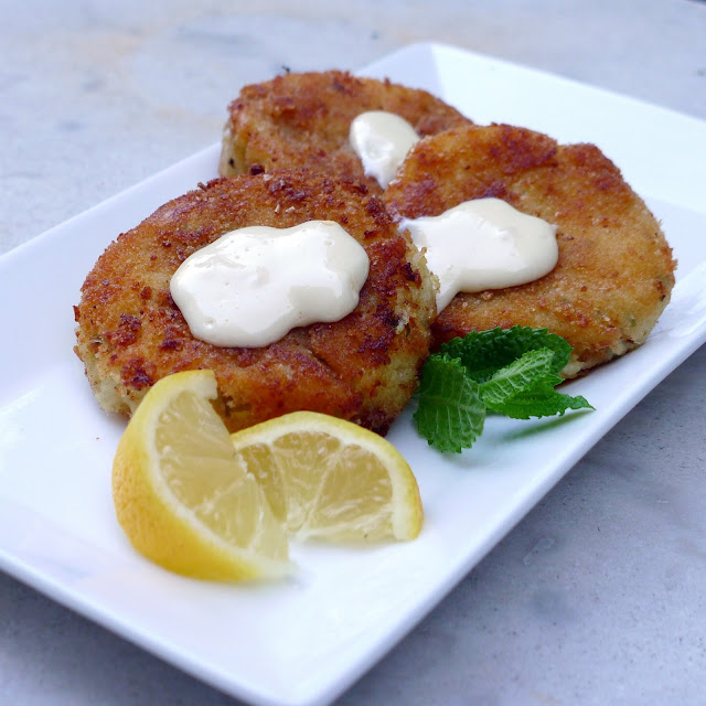 Cod Fish Cakes with a Hint of Mint