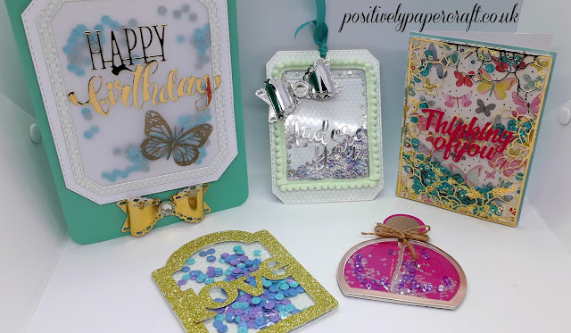 Shaker card ideas, #shakercards, #positivelypapercraft,