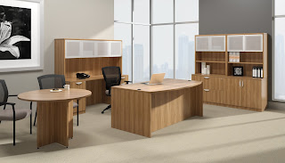 Light Wood Executive Office Furniture