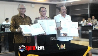 Ketua KPK ,Kapolri dan Jaksa Agung Sepakat Berantas Korupsi
