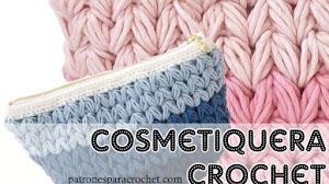 Patrones de cosmetiquera crochet / Paso a paso
