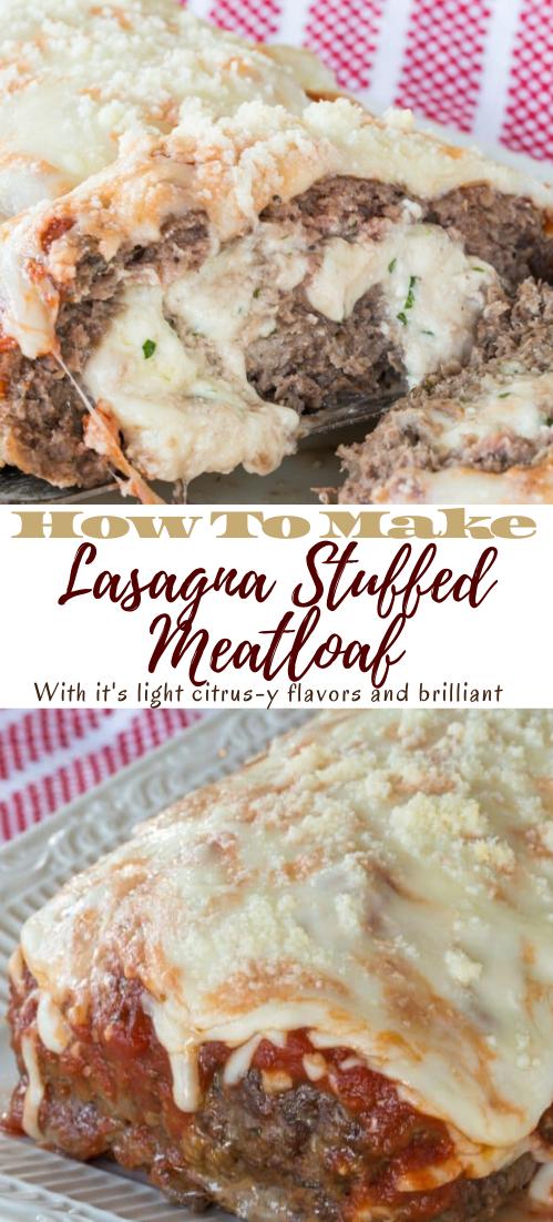 Lasagna Stuffed Meatloaf #healthyrecipe #dinnerhealthy #ketorecipe #diet #salad