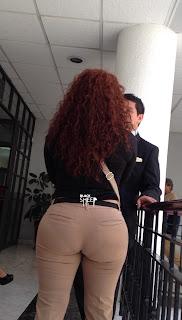 Mujeres sexis pantalones apretados marcado ropa interior