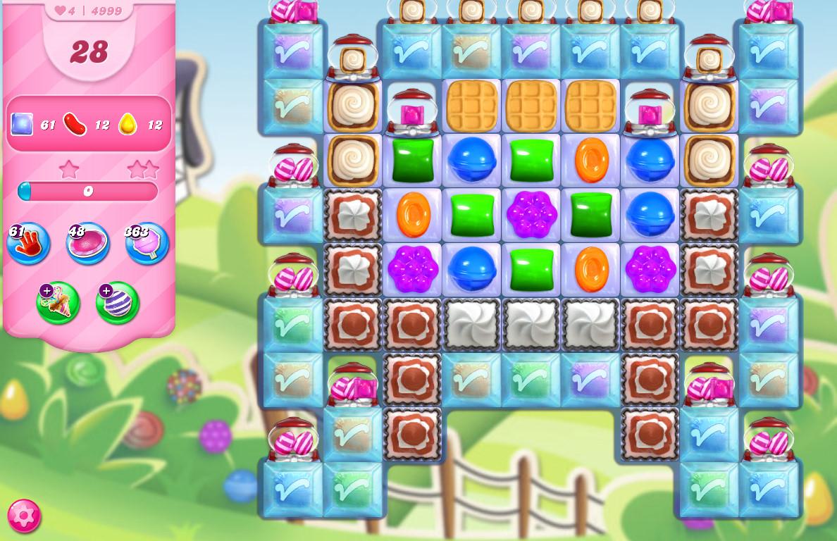 Candy Crush Saga level 4999