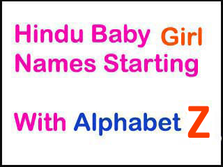 Hindu Names For Girls Starting With Z
