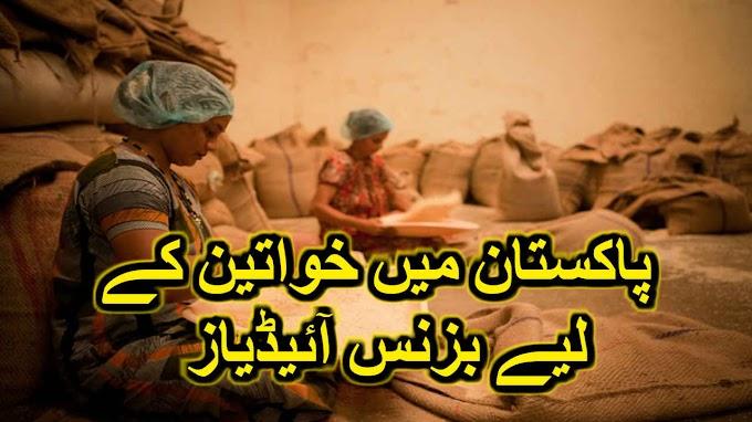 پاکستان میں خواتین کے لیے بزنس آئیڈیاز business for women in pakistan