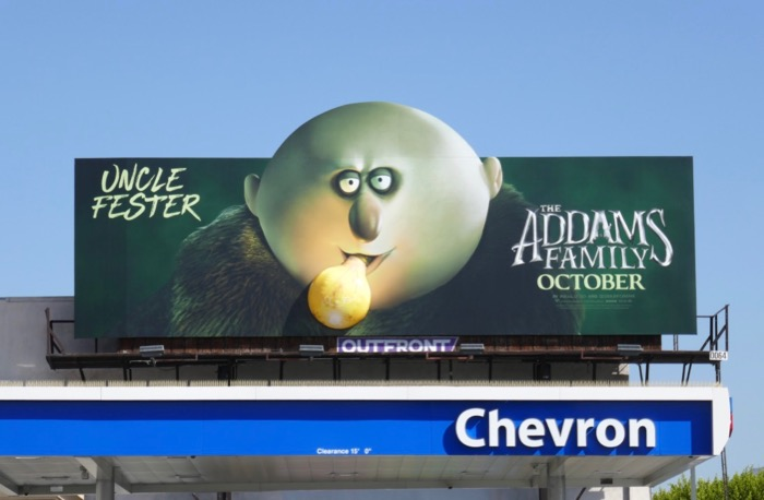Addams Family Uncle Fester 3D lightbulb billboard
