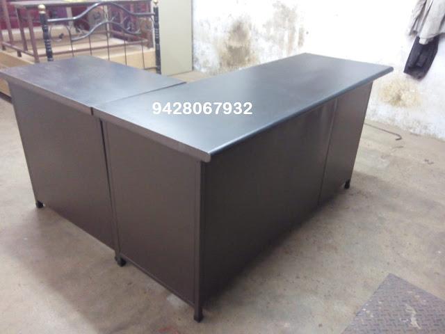 KAMAL STEEL PRODUCTS - 9428067932 L Shape Table Manufacturer Pratapnagar vadodara