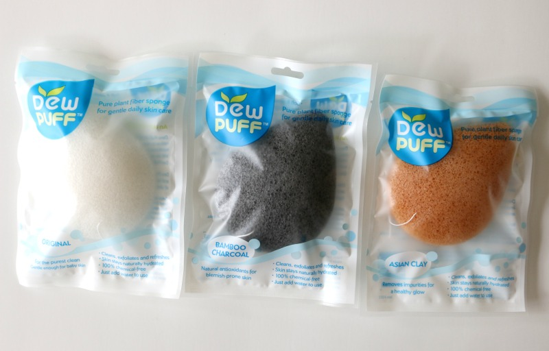 Dew Puff Konjac Sponges Original Bamboo Charcoal Asian Clay