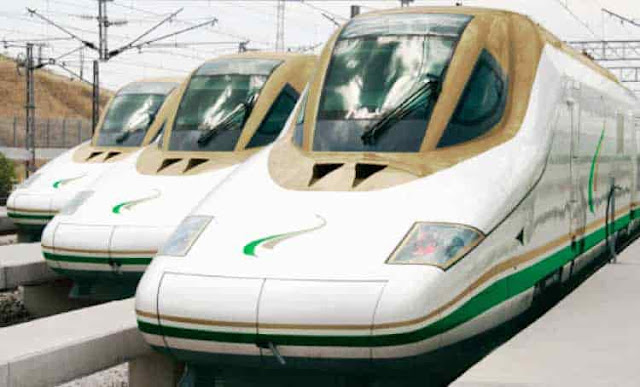 2 HOURS 10 MINUTES TO TRAVEL BETWEEN MAKKAH AND MADINAH IN TRAIN