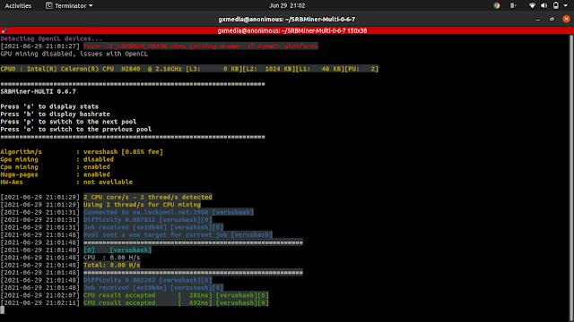 Cara Menggunakan SRB Miner di linux