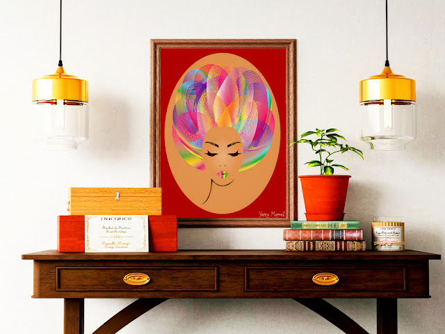 Afro-girl-art-print--by-yamy-morrell