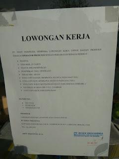 Lowongan kerja terbaru juli  PT Hogy Indonesia