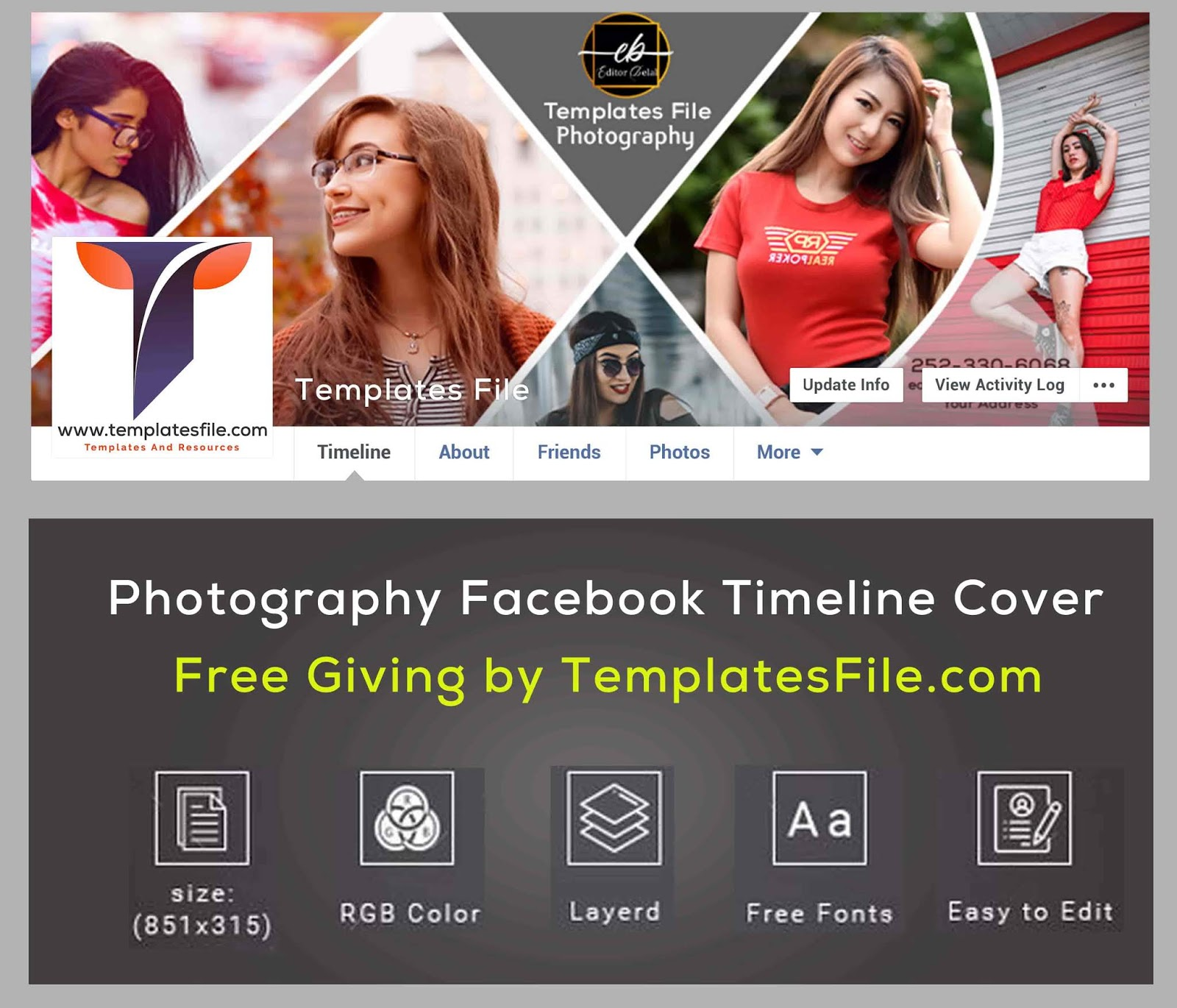 Free Facebook Cover Template For Photographers