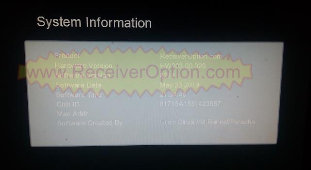 GX6605S HW203.00.029 TYPE HD RECEIVER TEN SPORTS OK NEW SOFTWARE