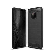 Carbon Fiber Texture TPU Gel Casing for Huawei Mate 20 Pro - Black