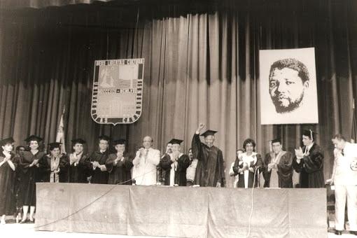 Nelson Mandela en Caracas 1991