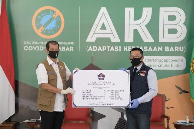 Jabar Terima Bantuan 2 Juta Masker dari Satgas Penanganan COVID-19