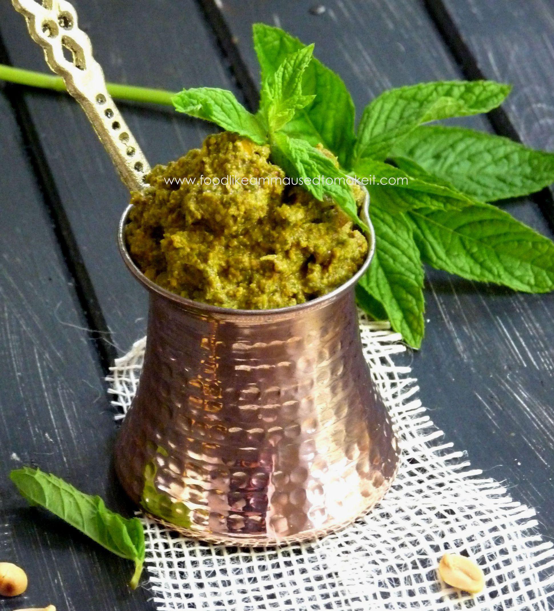 Mint Chutney Recipe (Pudina Chutney)