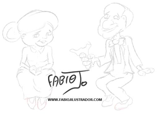 Criação de desenho de Personagens para ilustração em redes sociais
