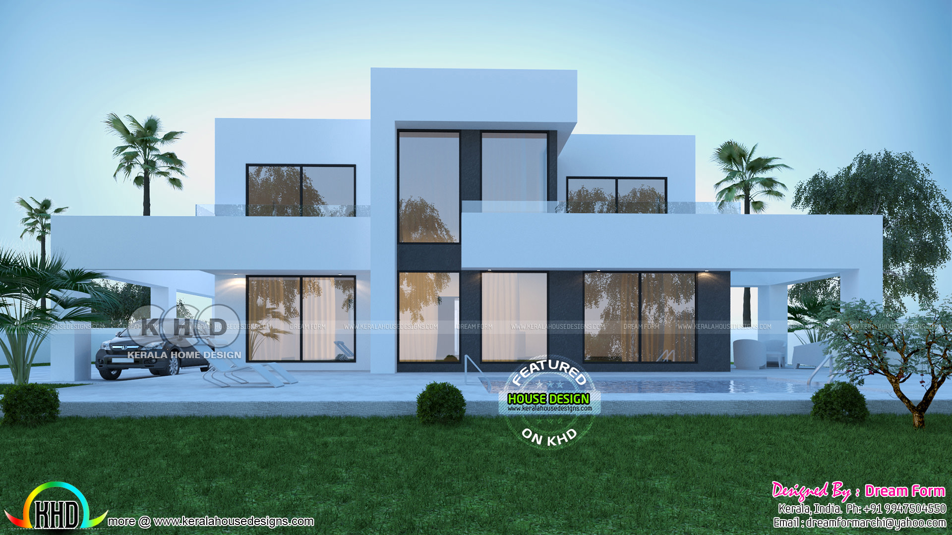 5 Bedroom Home Design Front And Back 3d Elevations Kerala Home Design And Floor Plans 8000 Houses